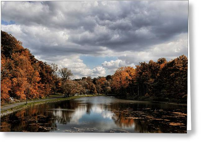Autumn Reflection  Greeting Card by Peter Chilelli