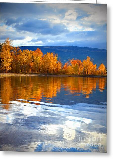 Autum Greeting Cards - Autumn Reflections at Sunoka Greeting Card by Tara Turner