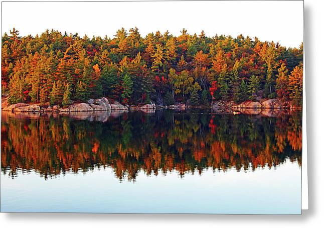 Greeting Card featuring the photograph   Autumn Reflections by Debbie Oppermann