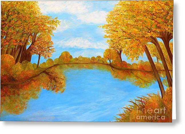 Autumn Reflections Greeting Card by Eloise Schneider