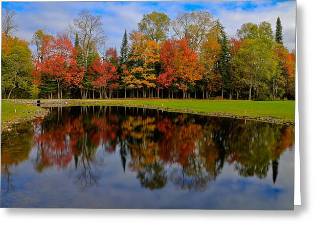 Autumn Reflections On The Golf Course Greeting Card