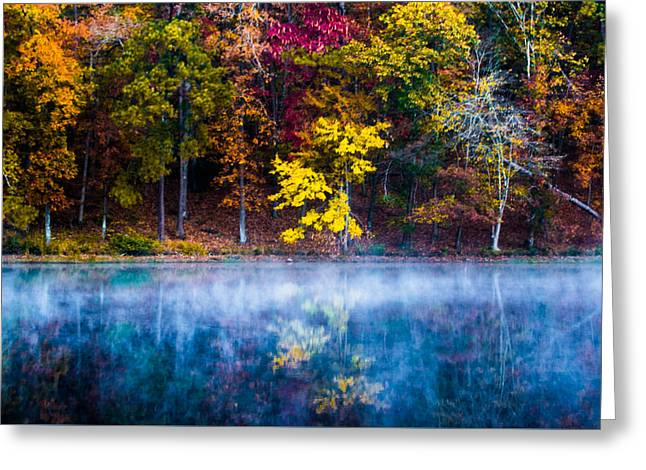 Autumn Reflections On The Lake Greeting Card