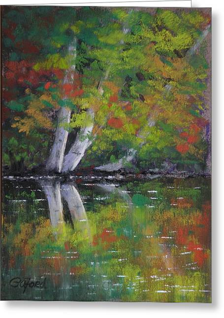 Autumn Reflections Greeting Card by Paula Ann Ford