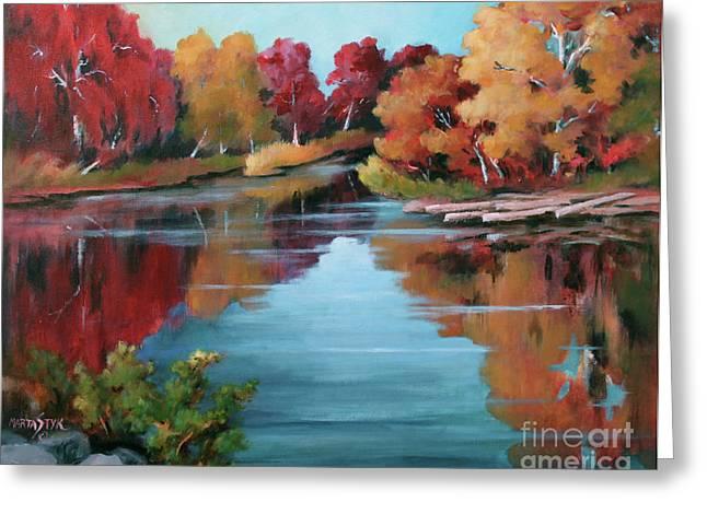 Autumn Reflexions 1 Greeting Card