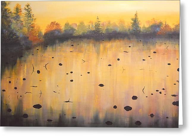 Autumn River Fog IIi Greeting Card by Connie Tom