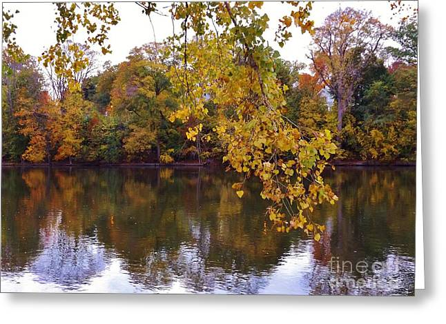 Autumn River Scene          October            Indiana Greeting Card