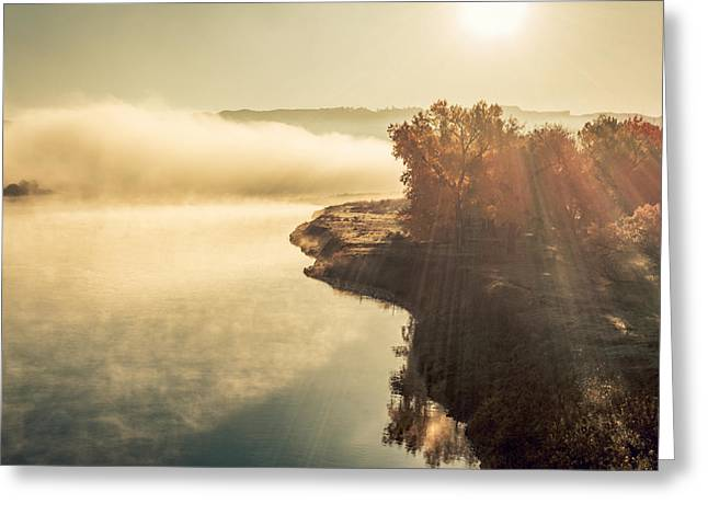 Autumn River Greeting Card by Todd Klassy