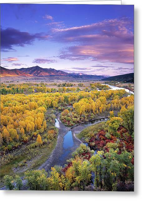 Autumn River View Greeting Card