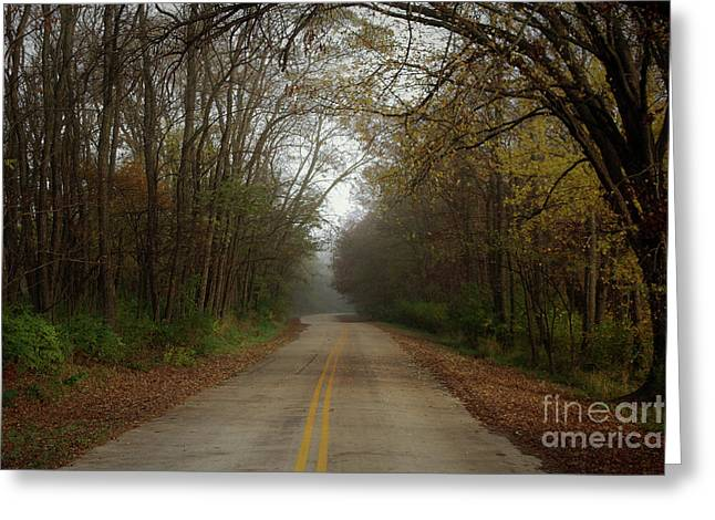 Autumn Road Greeting Card by Inspired Arts