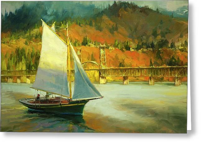 Autumn Sail Greeting Card