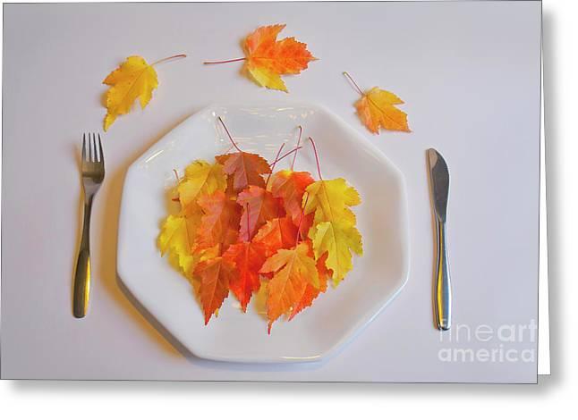 Autumn Salad Greeting Card