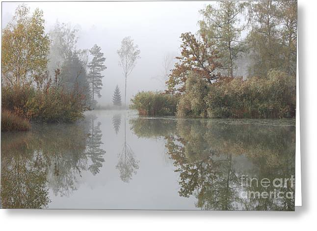 Autumn Scenery Greeting Card by Jana Behr