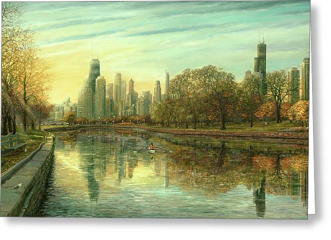 Autumn Serenity Greeting Card by Doug Kreuger