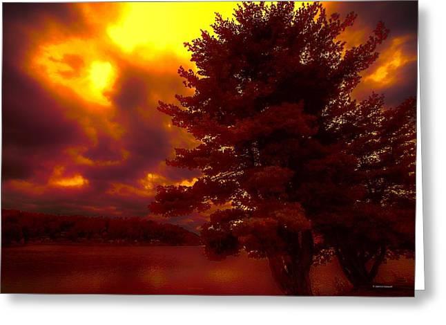 Autumn Skies L.junaluska Greeting Card