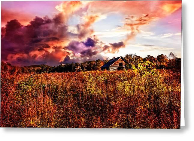 Autumn Sky Fire Greeting Card