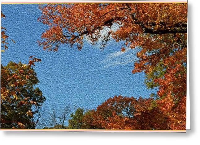 Autumn Sky Greeting Card by Sonali Gangane