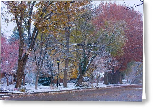 Autumn Snow Greeting Card
