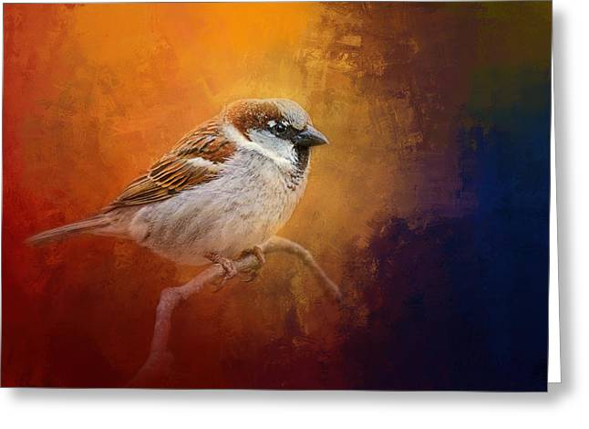 Autumn Sparrow Greeting Card