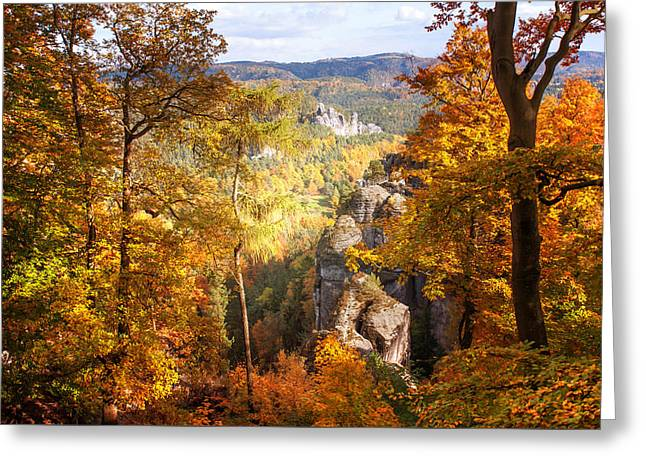 Autumn Splendor. Saxon Switzerland Greeting Card