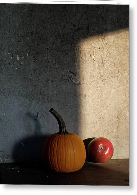 Autumn Still Life I Color Greeting Card by David Gordon