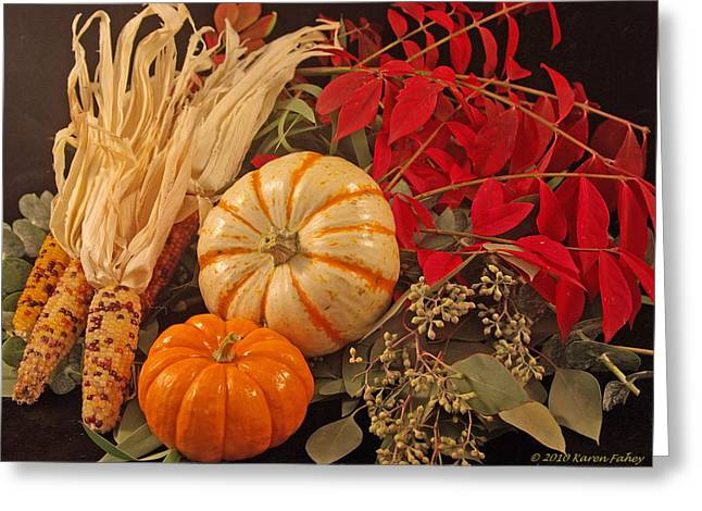 Autumn Still Life Greeting Card by Karen Fahey