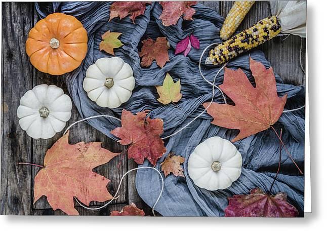 Autumn Still Life Greeting Card by Kim Hojnacki