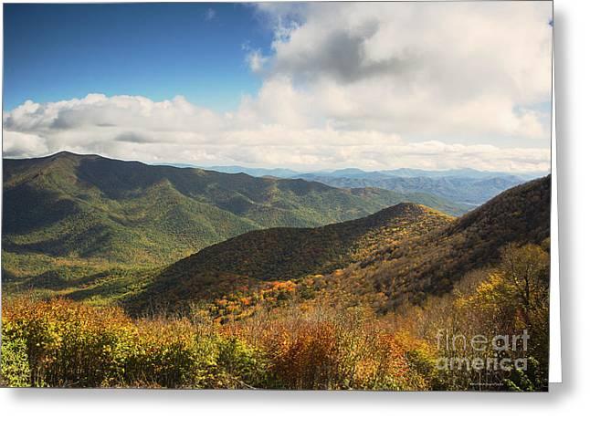Autumn Storm Clouds Blue Ridge Parkway Greeting Card