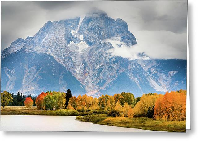 Autumn Storm Over Mount Moran Greeting Card