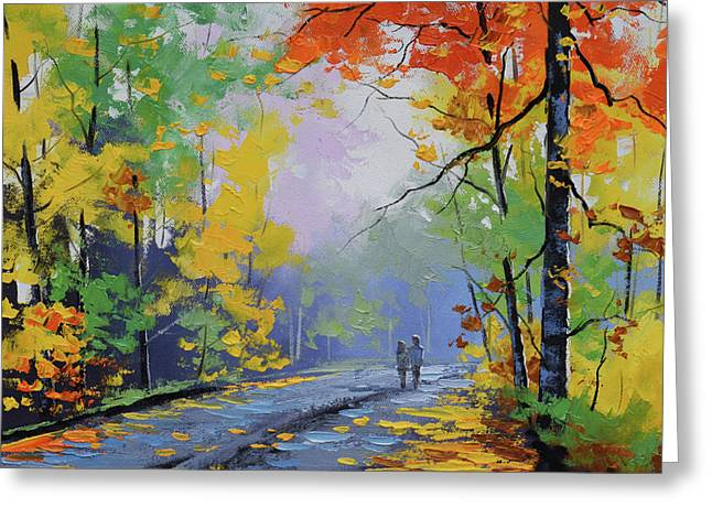 Autumn Stroll Greeting Card