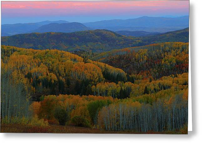 Autumn Sunrise At Rainbow Ridge Colorado Greeting Card by Jetson Nguyen