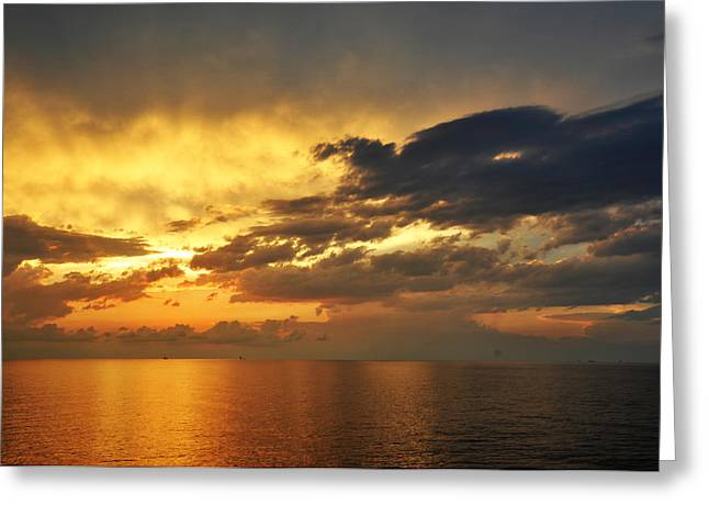 Autumn Sunrise In The Gulf  Greeting Card by Bill Perry