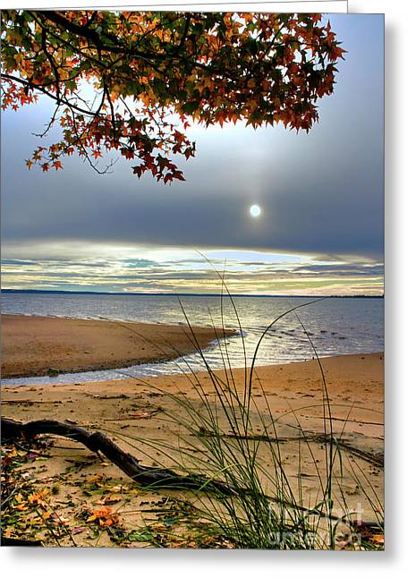 Autumn Sunrise On The James Greeting Card