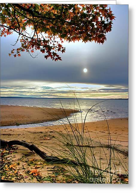 Autumn Sunrise On The James Greeting Card