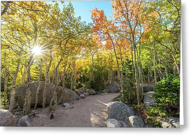 Autumn Sunrise Greeting Card by Robert Yone