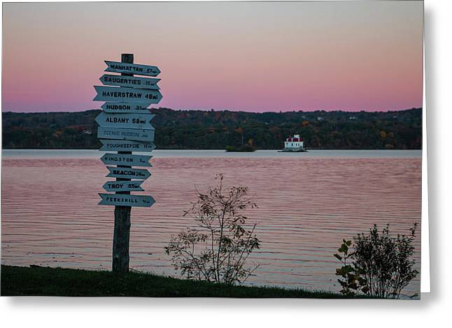 Autumn Sunset At Esopus Meadows Greeting Card