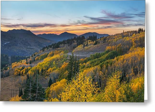 Autumn Sunset At Guardsman Pass, Utah Greeting Card