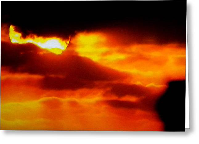 Autumn Sunset Denmark  Greeting Card by Colette V Hera  Guggenheim