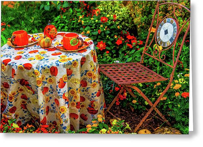 Autumn Table Setting Greeting Card