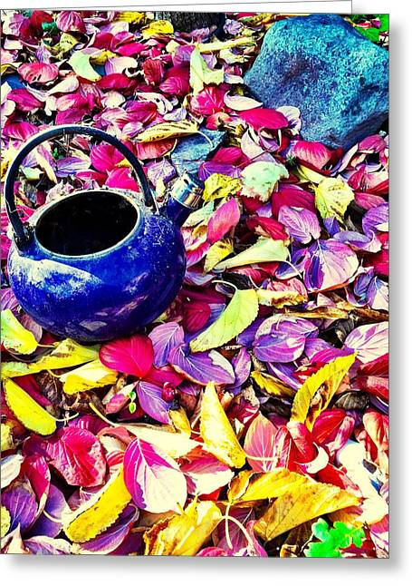 Autumn Tea Greeting Card