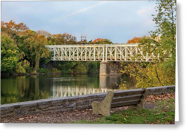 Autumn - The Schuylkill River And East Falls Bridge Greeting Card