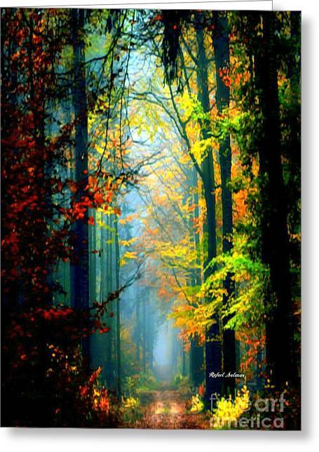Autumn Trails In Georgia Greeting Card by Rafael Salazar