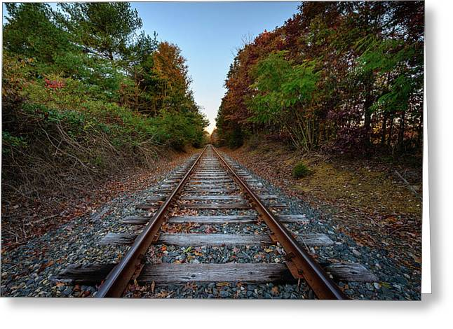 Autumn Train Greeting Card