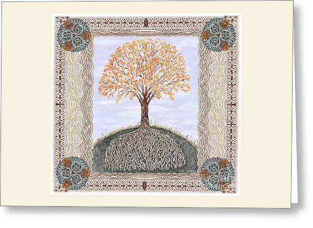 Autumn Tree Of Life Greeting Card