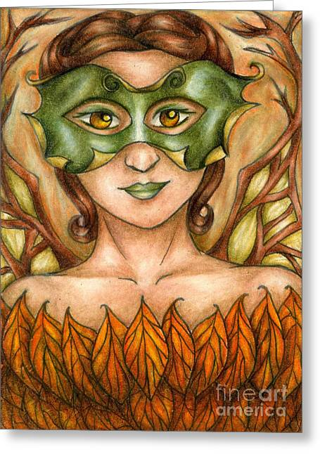 Autumn Tree Sprite Art Greeting Card