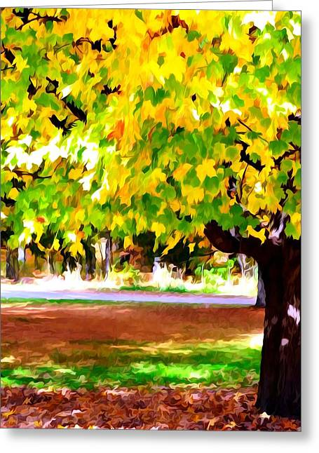 Autumn Trees 6 Greeting Card by Lanjee Chee