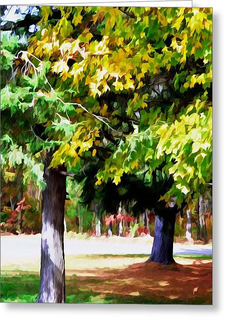 Autumn Trees 7 Greeting Card by Lanjee Chee