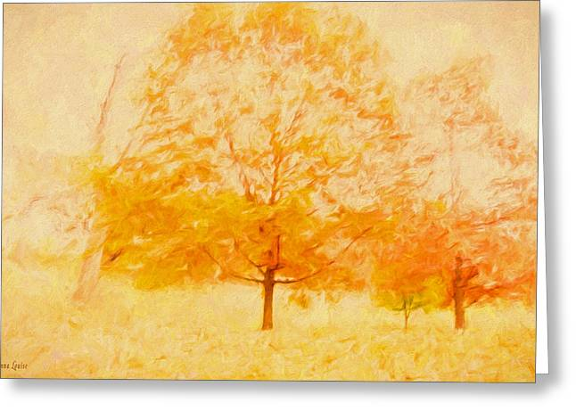 Autumn Trees Abstract Greeting Card