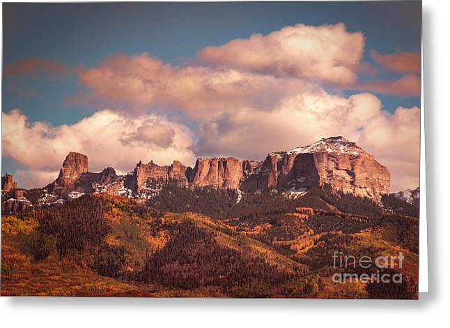 Autumn Uncompahgre Peaks Greeting Card