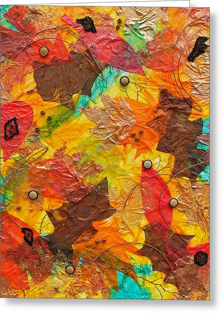 Autumn Leaves Underfoot Greeting Card
