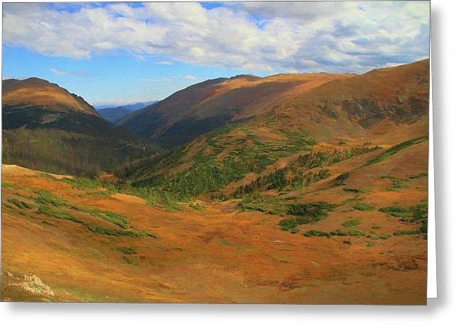 Autumn Valley From The Top Of Trail Ridge Road Greeting Card by Dan Sproul